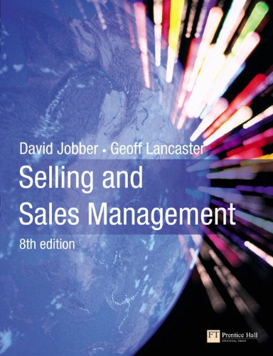 9780273720652: Selling and Sales Management (8th Edition)
