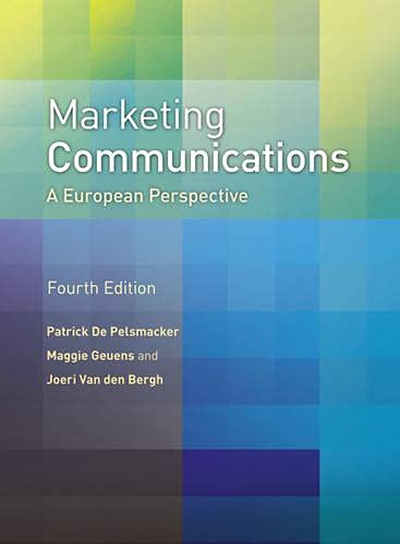 9780273721383: Marketing Communications: A European Perspective