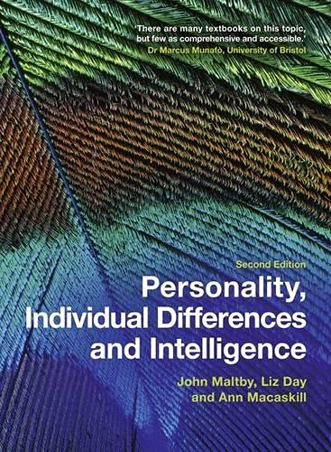 9780273722908: Personality, Individual Differences and Intelligence