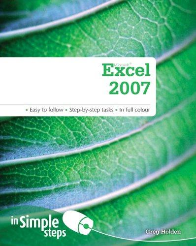 9780273723547: Microsoft Excel 2007 in Simple Steps