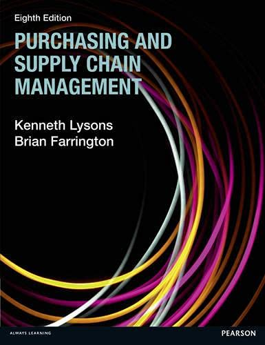Purchasing and Supply Chain Management: Lysons, Kenneth, Farrington,