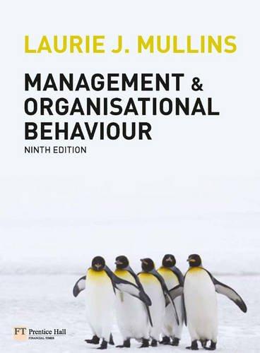 9780273724087: Management and Organisational Behaviour