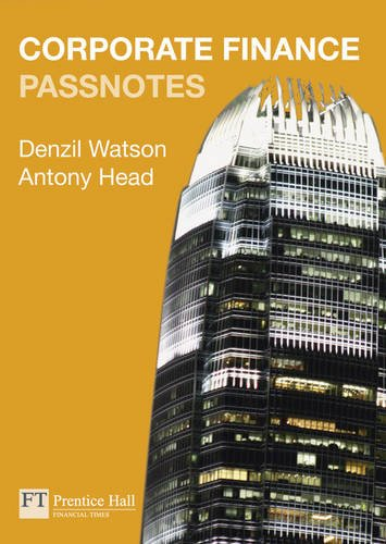 9780273725268: Corporate Finance Passnotes 1st edition