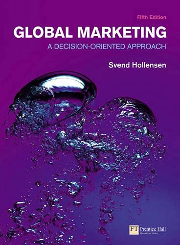 9780273726227: Global Marketing: A decision-oriented approach (5th Edition) (Financial Times (Prentice Hall))