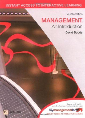 9780273728566: Management plus MyLab Access Code