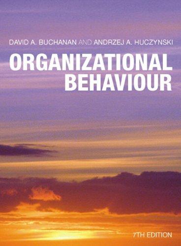 9780273728597: Organizational Behaviour plus Companion Website Access Card (7th Edition)