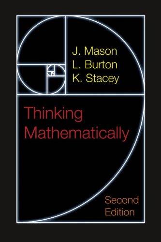 9780273728917: Thinking Mathematically (2nd Edition)