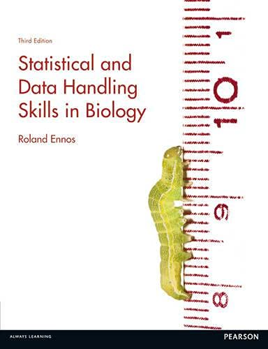 9780273729495: Statistical and Data Handling Skills in Biology