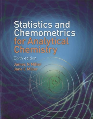 Statistics and Chemometrics for Analytical Chemistry (6th: Miller, James, Miller,