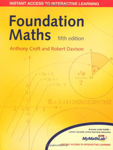 Foundation Maths (5th edt): Croft, A., and
