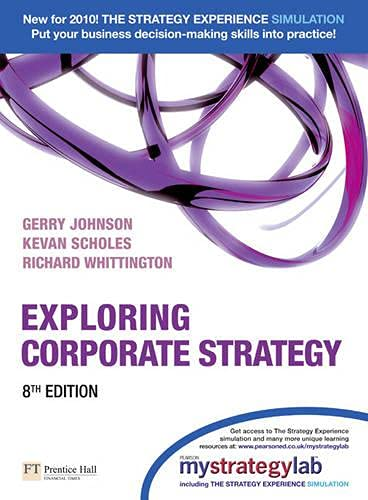 9780273731559: Exploring Corporate Strategie With Mystrategielab ed 8