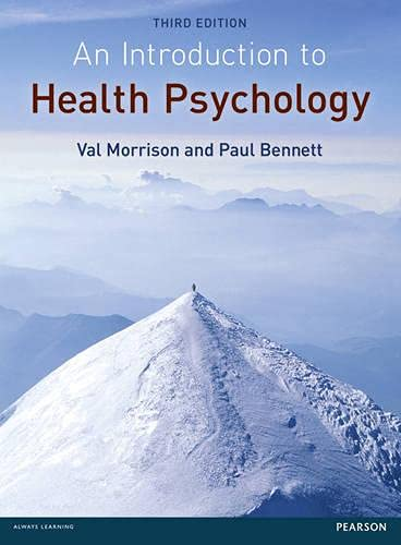 9780273735199: An Introduction to Health Psychology. Val Morrison and Paul Bennett