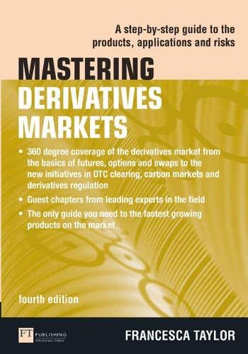 9780273735670: Mastering Derivatives Markets: A Step-by-Step Guide to the Products, Applications and Risks