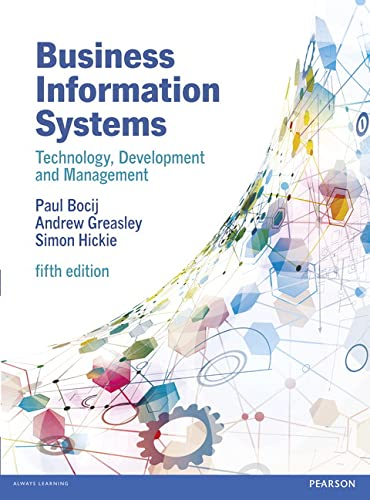 9780273736455: Business Information Systems