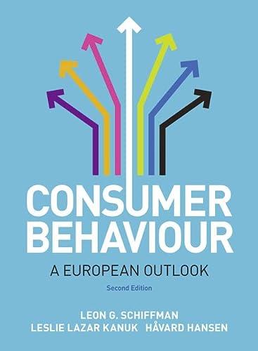 Consumer Behaviour: A European Outlook: Hansen, Havard, Kanuk,
