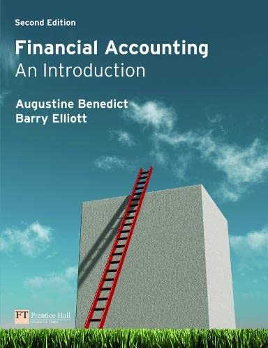 Financial Accounting: An Introduction: Mr Augustine Benedict;