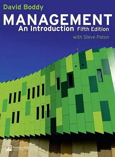 9780273739272: Management: An Introduction