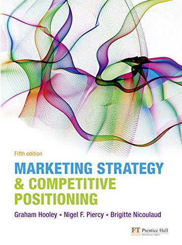 9780273740933: Marketing Strategy & Competitive Positioning