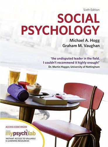 9780273741145: Social Psychology