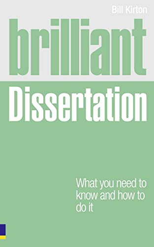 9780273743774: Brilliant Dissertation