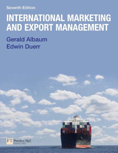 9780273743880: International Marketing & Export Management (7th Edition)