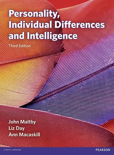 9780273751168: Personality, Individual Differences and Intelligence