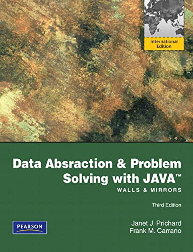 9780273751205: Data Abstraction and Problem Solving with Java: Walls and Mirrors: International Edition