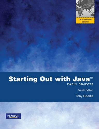 9780273751229: Starting Out with Java: Early Objects
