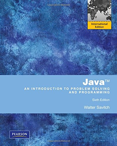 9780273751427: Java An Introduction to Problem Solving & Programming