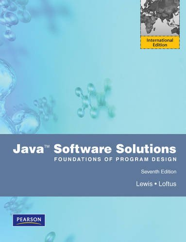 9780273751472: Java: Software Solutions Foundations of Program Design