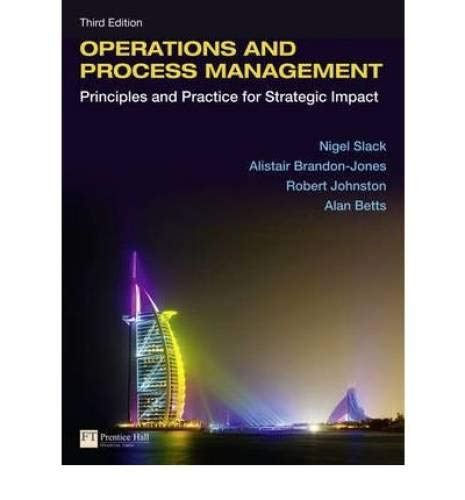 9780273751878: Operations and Process Management: Principles and Practice for Strategic Impact