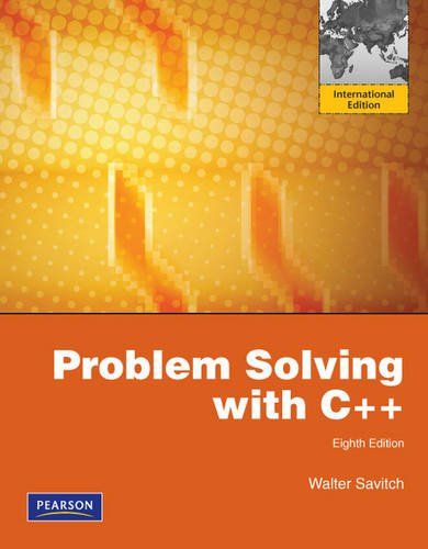 9780273752189: Problem Solving with C++: International Version