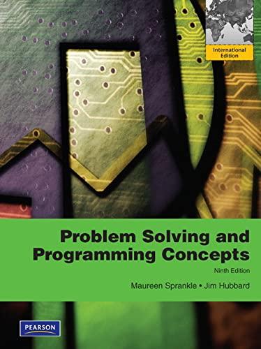9780273752219: Problem Solving & Programming Concepts