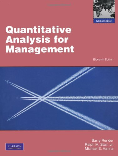 Quantitative Analysis For Management  Abebooks