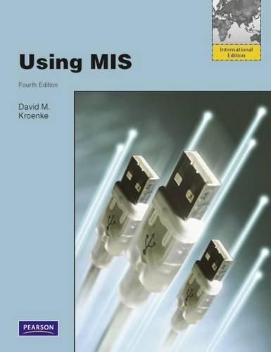 Using MIS: Kroenke, David