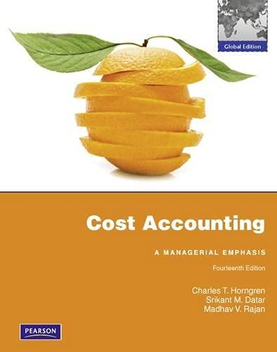 9780273753872: Cost Accounting: Global Edition