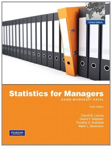 9780273755852: Statistics for Managers Using MS Excel