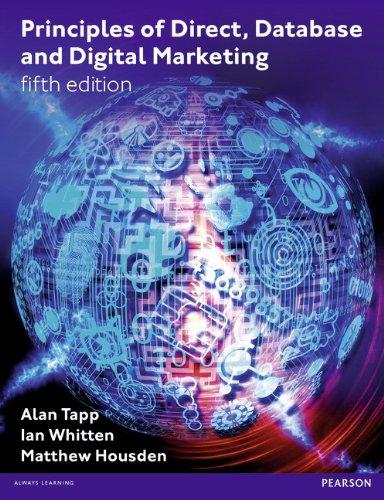 9780273756507: Principles of Direct Database & Digital Marketing