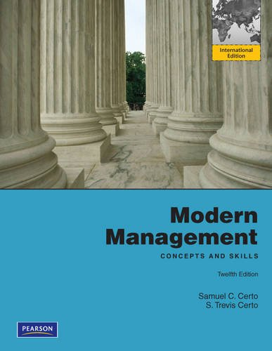 Modern Management: Concept and Skills: International Edition: Samuel C. Certo