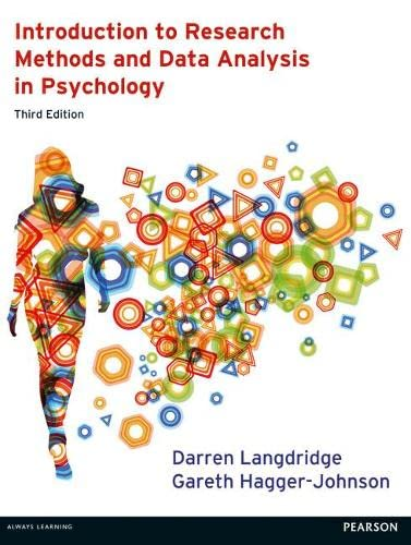 9780273756873: Introduction to Research Methods and Data Analysis in Psychology 3rd edn