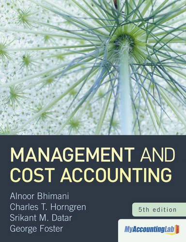 9780273757450: Management and Cost Accounting