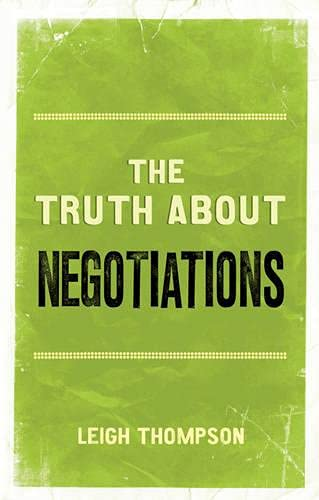 9780273759263: The Truth About Negotiations