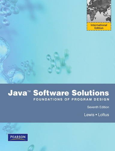 9780273760184: Java Software Solutions