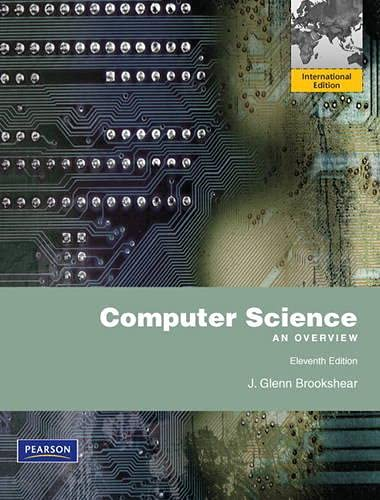 9780273760238: Computer Science: An Overview. J. Glenn Brookshear