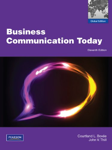9780273761464: Business Communication Today
