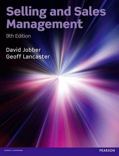 9780273762652: Selling and Sales Management (9th Edition)