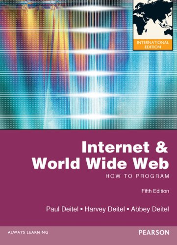 9780273764021: Internet and World Wide Web How to Program. by Paul and Harvey Deitel