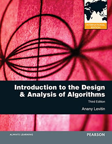 9780273764113: Introduction to the Design and Analysis of Algorithms (International Version)