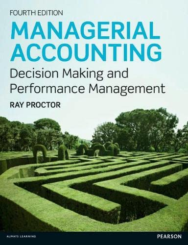 9780273764489: Managerial Accounting: Decision Makling and Performance Management