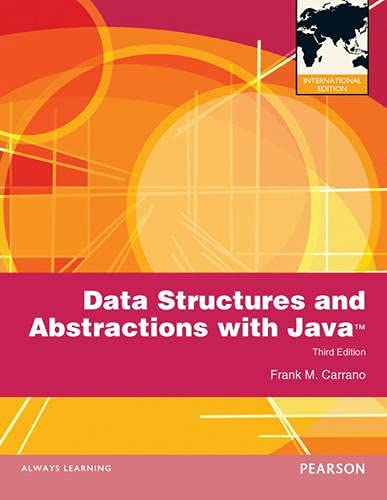 9780273764762: Data Structures and Abstractions with Java: International Edition (International Version)